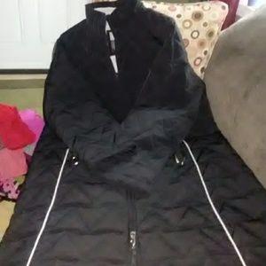 Womens long black coat